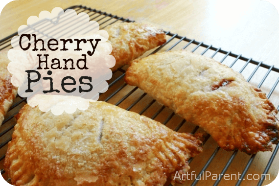 Baking Cherry Hand Pies with the Kids