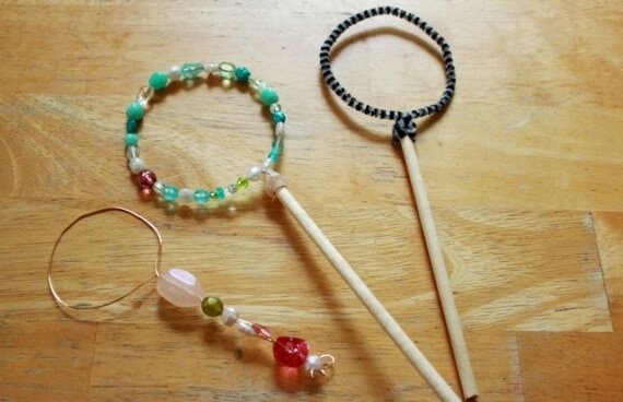 Make Beaded Bubble Wands