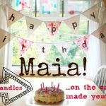 Happy Birthday Maia! (& a Kid-Made Birthday Cake)