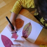 Autumn Leaf Drawing Game for Kids