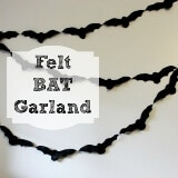 DIY Felt Bat Garland