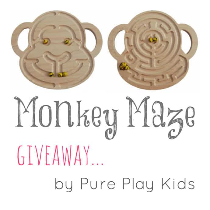 Monkey Maze Giveaway by Pure Play Kids