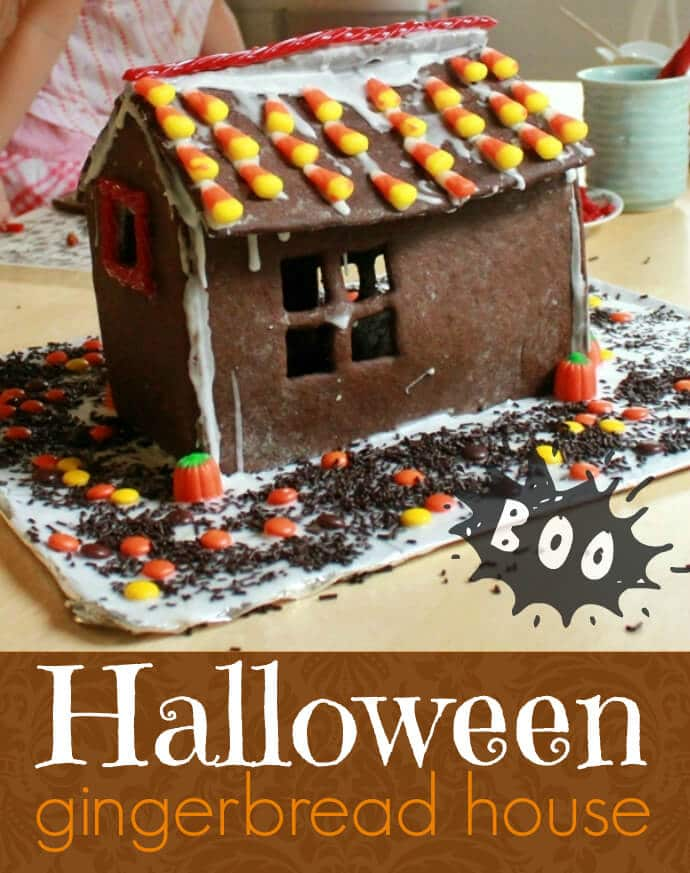 Make a Fall Gingerbread House with Halloween Candy!