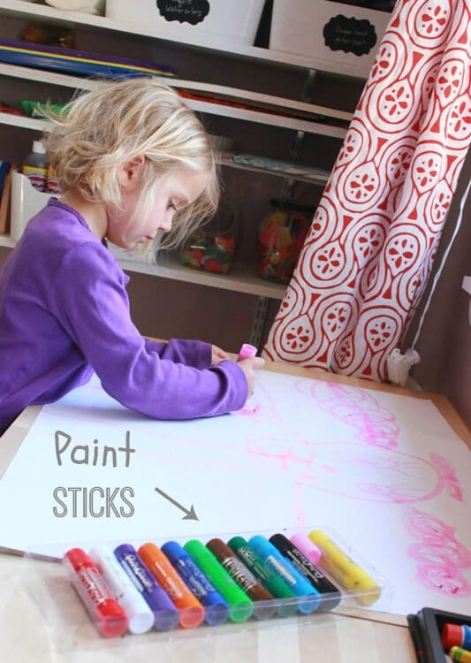 Tempera Paint Sticks - An Awesome New Kids Art Product!