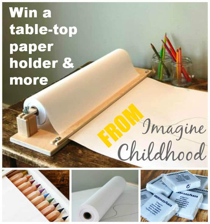 Win a Paper Roll Holder and Other Art Supplies from Imagine Childhood