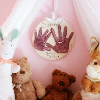 A Keepsake Handprint Plaque by Memories in Clay
