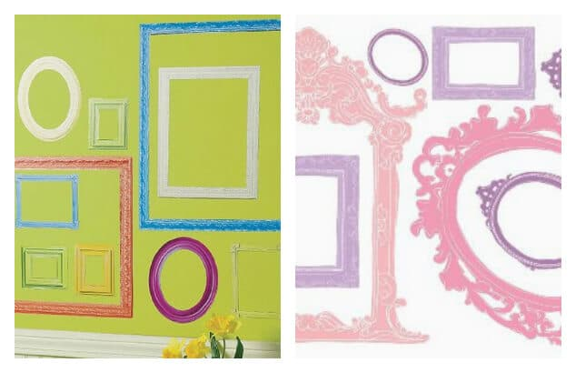21 Ways to Display Kids Artwork - Frame Wall Decals