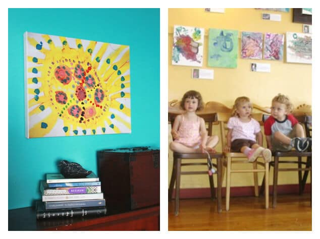 21 Ways to Display Kids Artwork - make into canvas or have an art show