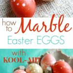 Marble Easter Eggs with Kool-Aid