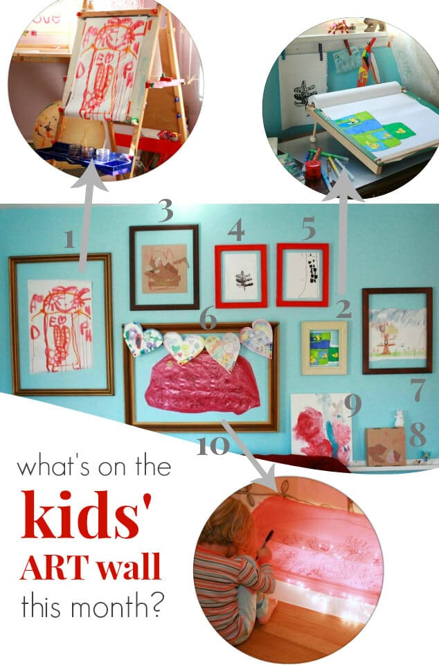 Whats on the Kids Art Display Wall This Month