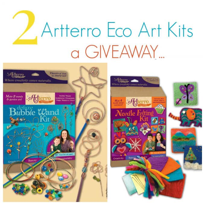 Artterro Eco Art Kit Giveaway - 2 arts and crafts kits