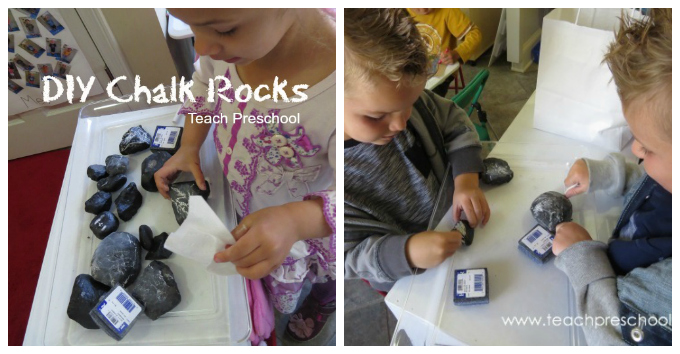 Kids Art with Rocks - DIY Chalk Rocks