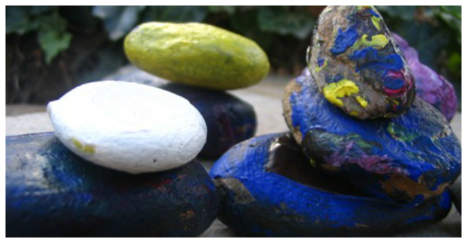 Kids Art with Rocks - Painted Rocks