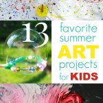 13 Favorite Summer Art Activities for Kids