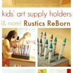 Whats in Our Kids Wooden Art Supply Caddy