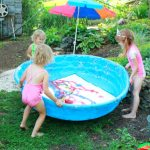Water Balloon Painting in the Pool