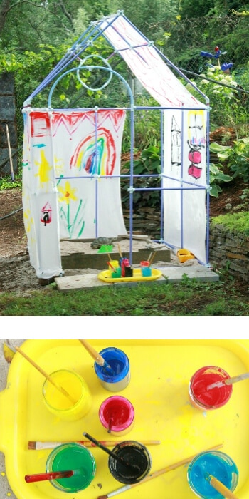 Paint Your Own DIY Backyard Playhouse