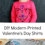 Modern DIY Valentines Day Shirts