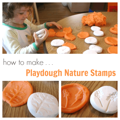 How to Make Kids Playdough Nature Stamps in Sculpey Clay