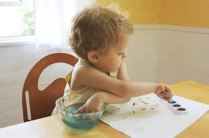 Art for Toddlers - Exploring the Materials