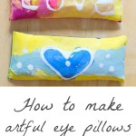 Make Lavender Eye Pillows with Glue Batik Art