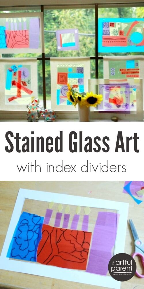 Stained Glass Art Project for Kids with Index Dividers