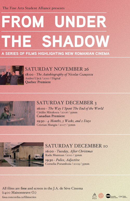 From Under The Shadow - programmation