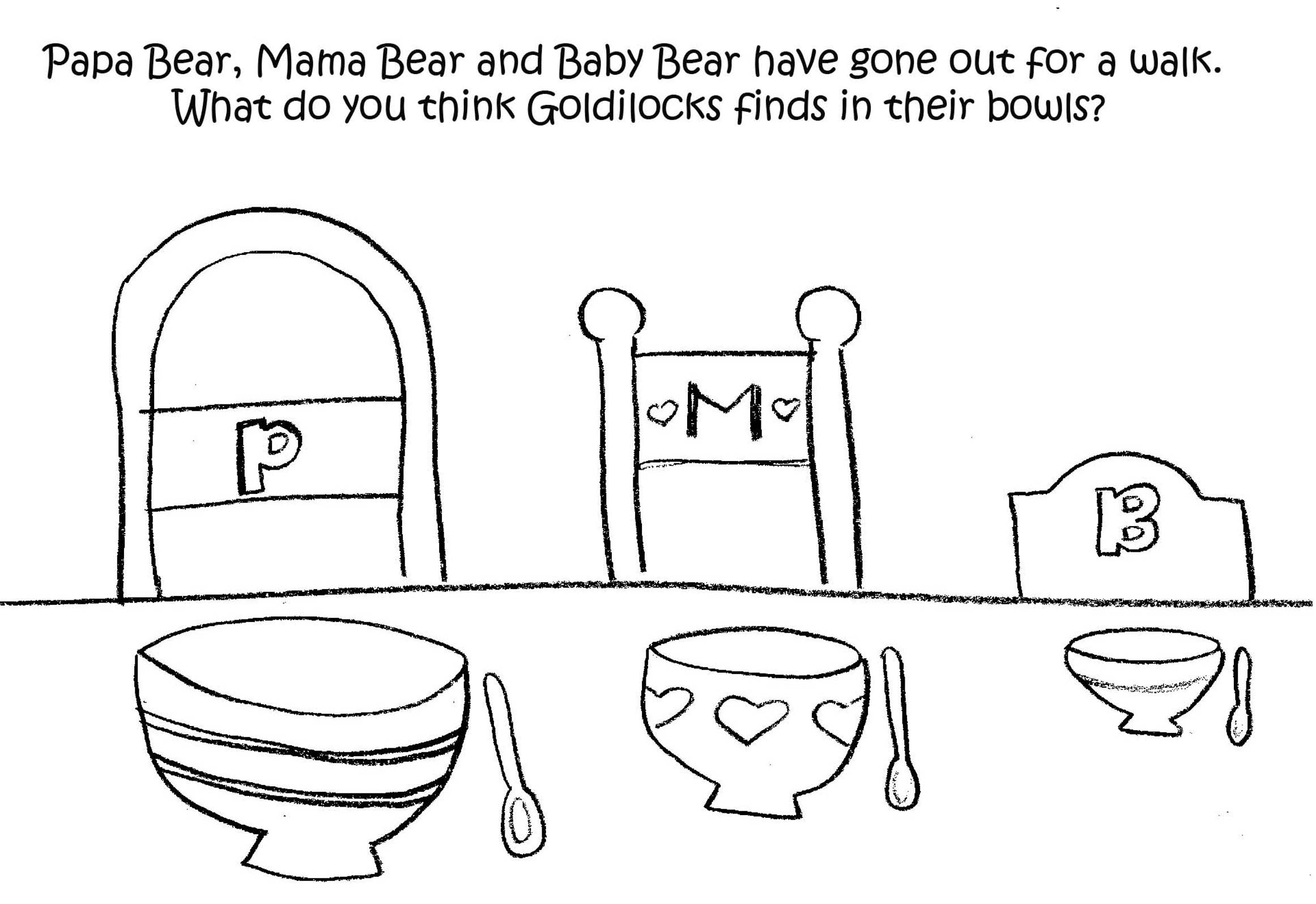 math worksheet : high quality goldilocks bears photos : Goldilocks And The Three Bears Worksheets Kindergarten