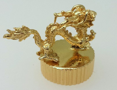Chinese Dragon plated with 18kt Medici Gold.