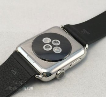 stainless steel apple watch before gold plating