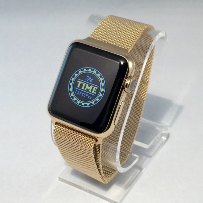 Apple Watch® Milanese With 18kt Sunset Cupertino™ Gold Plating By The Time Preserve