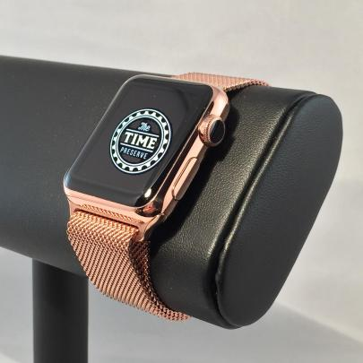 Apple Watch® Milanese With Rosa Cupertino™ (Rose Gold) Plating By The Time Preserve