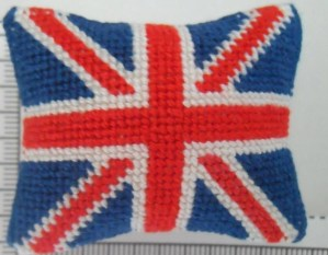 Union Jack Cushion 1/12th scale