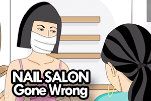 Nail salon animated cartoon animated stand up comedy video for Animation stand salon