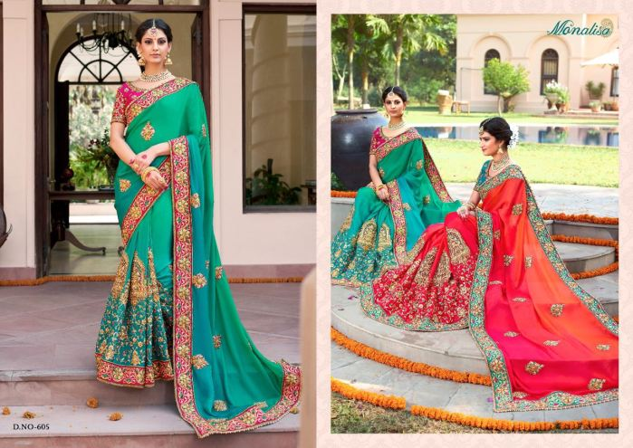 Monalisa v6 Bridal Sarees MM605 | Bridal Wear for LadiesShop Online Monalisa v6 Bridal Sarees MM605 @ArtistryC | Best Price: Rs 7035 or $ 117 | Free shipping in India - International shipping