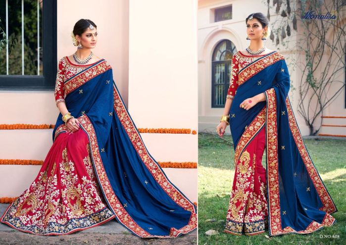 Monalisa v6 Bridal Sarees MM608 | Bridal Wear for LadiesShop Online Monalisa v6 Bridal Sarees MM608 @ArtistryC | Best Price: Rs 5384 or $ 90 | Free shipping in India - International shipping