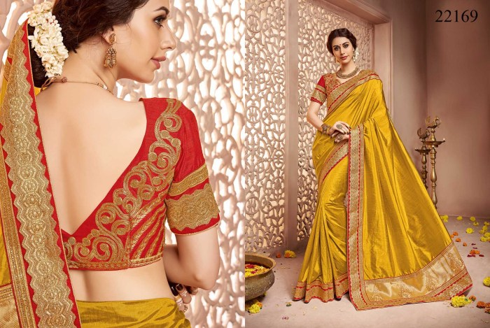 Newly Wedded Bridal Saree Dania 22169 | Bride Special