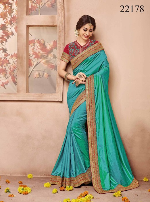 Newly Wedded Bridal Saree Dania 22178 | Bride Special