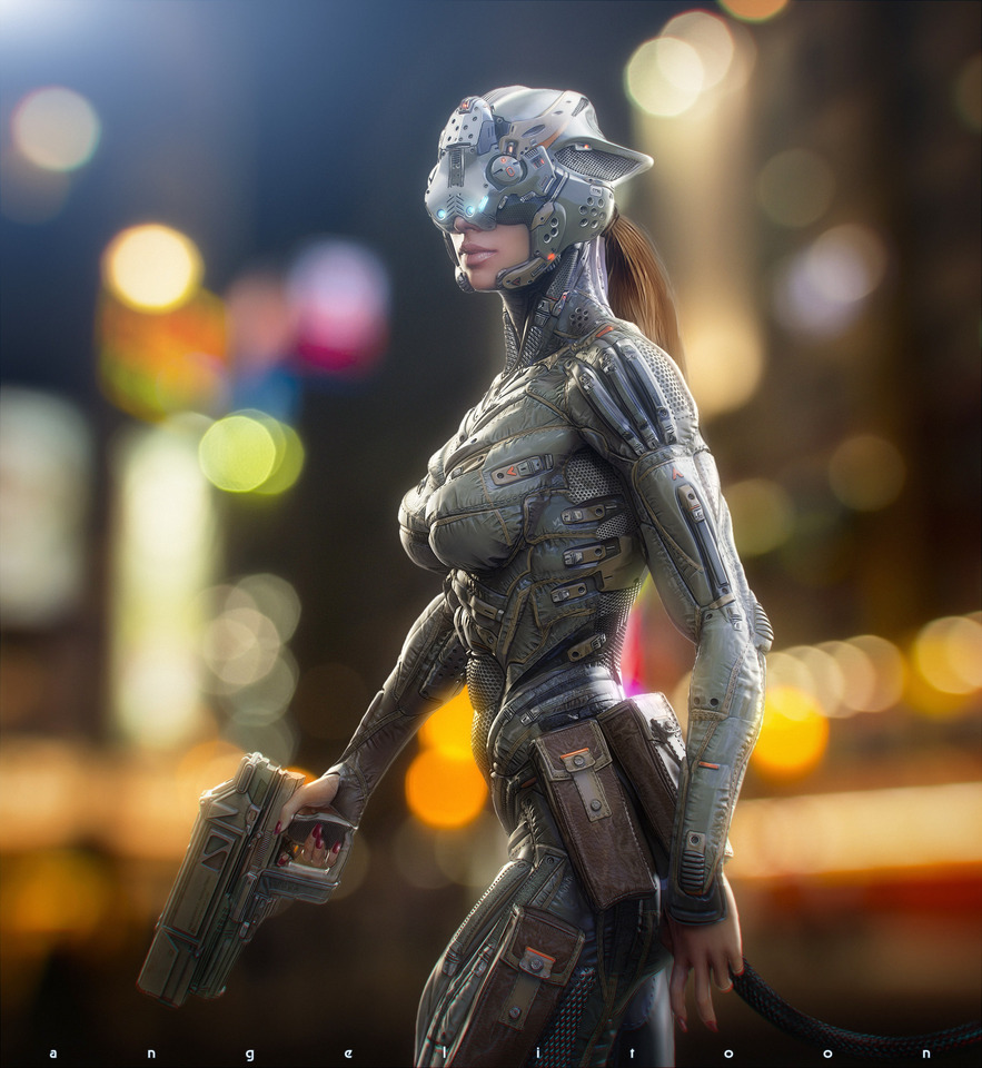 Catwoman Suit, by Angelitoon