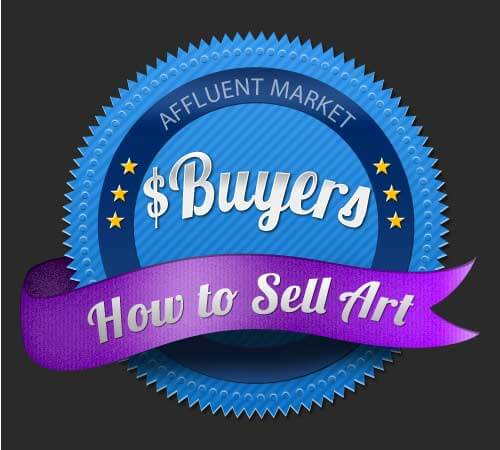 how to sell art to affluent buyers