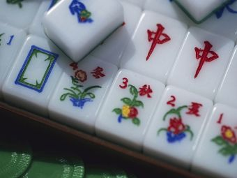 Colorful Mahjong Tiles