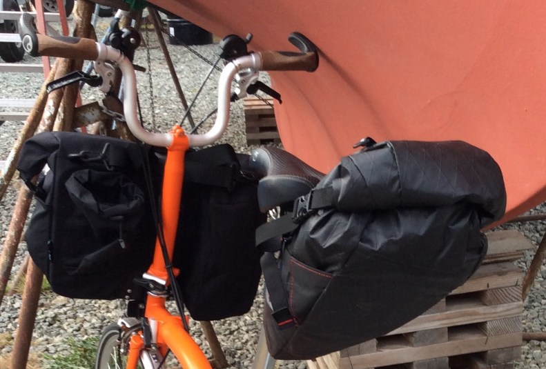 Touring on a brompton