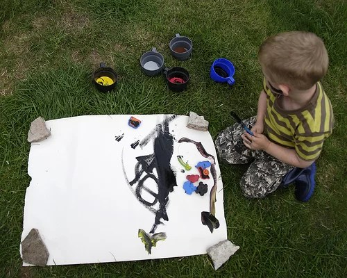 child-in-painting