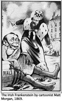 The Irish Frankenstein by cartoonist Matt Morgan, 1869.