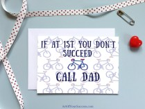 Happy Father's Day Bike Call Dad card
