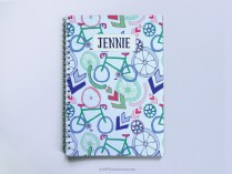 Cycling Spiral Notebook A5 personalised