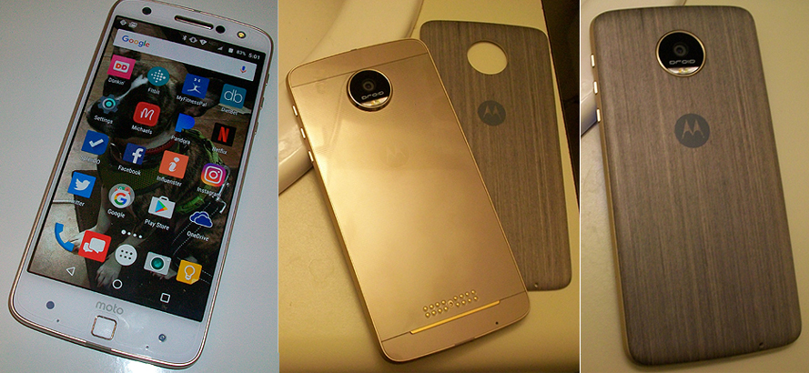 The Front Back and Cover for the Moto Z Force Droid Smartphone