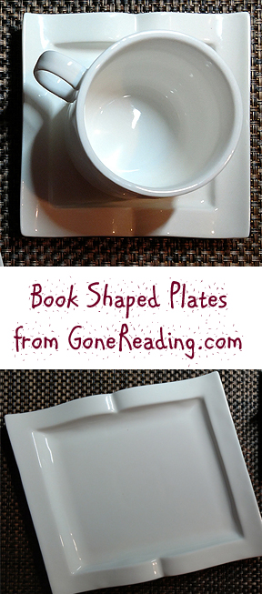 Book Shaped Plates and Saucer from GoneReading