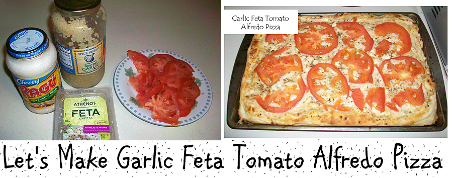How to Make Garlic Feta Tomato Alfredo Pizza
