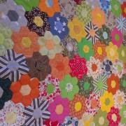babičkina záhrada patchworková deka